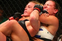 Miesha Tate choking out Holly Holm : if you love #MMA, you'll love the #UFC & #MixedMartialArts inspired fashion at CageCult: http://cagecult.com/mma