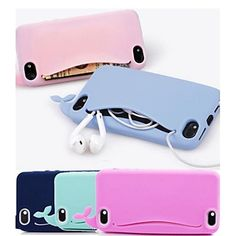 Lovely Silicone cute Whale Soft Case for iPhone 4/4S iPhone Cases