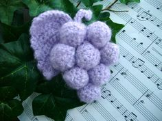 Crochet Grapes brooch  http://www.etsy.com/shop/CraftsbySigita?ref=si_shop