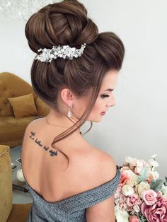 Elstile Long Wedding Hairstyle Ideas 4 / http://www.deerpearlflowers.com/26-perfect-wedding-hairstyles-with-glam/2/