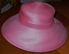 Vintage Frank Olive for Saks Fifth Avenue Pink Ladies Hat Womens Hats Size 7 Ave | eBay