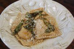 Butternut Squash Ravioli Recipe from 100 Days of Real Food - I found the filling sweet. Next time I won't add as much maple syrup.