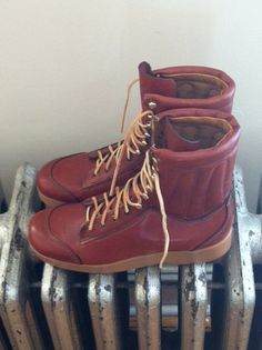 Vintage 60's 70's Hiking Work Boots by Bass by MamasShabbyAttic, $69.00