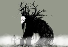 I was watching the RWBY directors commentary and when they mentioned that some of the Grimm can grow to enormous sizes my mind immediately wanted to dra. Forest Creatures, Weird Creatures, Fantasy Creatures, Dark Creatures, Tree Monster, Monster Art, Fantasy Monster, Rwby Grimm, Rwby Fanfiction
