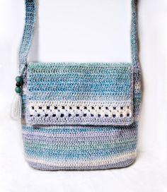 Handmade Crochet Bags Patterns | By The Sea/ handmade, crochet bag, shoulder bag, purse, crossbody bag