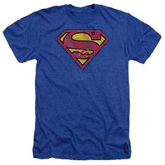 f54c0c40f3 $23.01 - Superman - Action Shield Adult Heather #superman #dc #dctshirt  #shirts