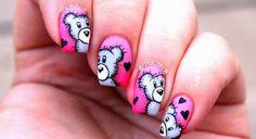 Teddy Bear Nail Art Design Inspired Nails Nail Art, Nail Polish Designs by Essie Looks. Create a beautiful at-home manicure with nail polish & nail art desig. Trendy Nail Art, Cool Nail Art, Simple Nail Art Designs, Nail Designs, Best Nail Salon, Valentine Nail Art, Bear Valentines, Heart Nail Art, Manicure E Pedicure