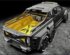 If you thought the Mercedes-Benz X-Class pick-up truck was the final work in luxury off-road vehicles, you haven't seen Carlex Design's EXY Mercedes Auto, Mercedes Truck, Suv Trucks, Cool Trucks, Pickup Trucks, Cool Cars, Pickup Car, Custom Trucks, Custom Cars