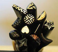 12 Handmade Silversmith Stamps Jewelry Design Tools | eBay