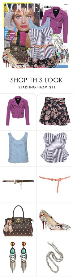 """""""I wish I had a Time Machine..."""" by sweet-jolly-looks ❤ liked on Polyvore featuring House of Holland, Étoile Isabel Marant, Jane Norman, Miss Selfridge, Paul's Boutique, Christian Louboutin, DANNIJO, Kenneth Jay Lane, Isharya and 80s fashion"""