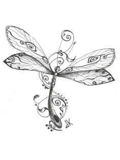 9 best dragonfly art images in 2016 Dragonfly Drawing, Dragonfly Tattoo Design, Dragonfly Art, 1 Tattoo, Tattoo Drawings, Body Art Tattoos, New Tattoos, Tatoos, Flash Tattoos