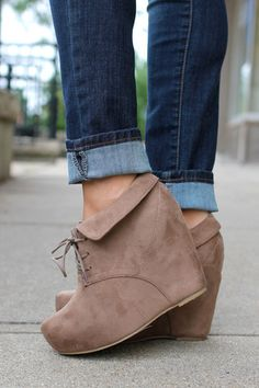 Suede Wedge Bootie | uoionline.com: Women's Clothing Boutique