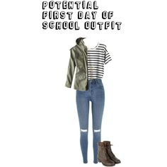 Possible First Day Of School Outfit by a-j-west on Polyvore featuring Madewell, American Eagle Outfitters, River Island, love, Trendy and firstdayofschool