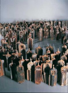 Ceramic figures by Theodoros Papagiannis
