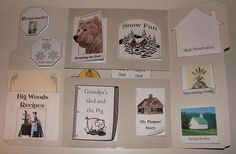Little House in the Big Woods lapbook - all kinds of free manipulatives
