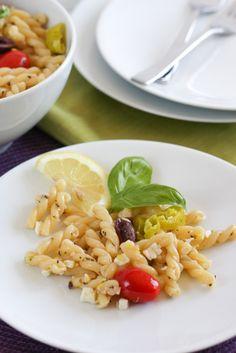 Greek Pasta Salad | foodnfocus.com