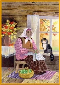 Cat in the window painting. Tatiana Rodionova