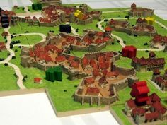 Carcassonne en 3 Dimensiones ... vaya gozada .... y vaya currelo ...