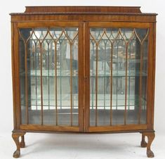 Antique Chippendale Claw foot Curio Cabinet