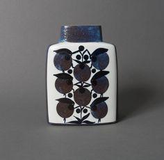 Royal Copenhagen vase pillow faience pottery mid century tenera scandinavian danish