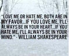 Love me or hete me