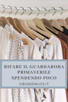 Rifare il guardaroba primaverile spendendo poco . . . . . . .  #guardaroba #rifareguardaroba #rinnovareguardaroba #closet #wardrobe #ilblogdialice #shoppingrisparmioso #shoppingonline #iloveshopping #primavera #guardarobaprimaverile Clothes Hanger, Alice, Blog, Beauty, Spring, Coat Hanger, Hangers, Hangers For Clothes, Blogging
