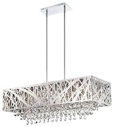 Lite Source LS-EL-10104 Benedetta Modern / Contemporary Rectangular Chandelier contemporary-chandeliers