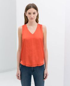 Image 1 of CROSSOVER BACK V-NECK TOP from Zara