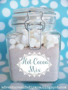 Adventures of a DIY Mom - Homemade Hot Cocoa Mix