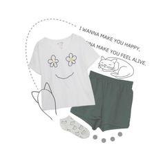 """Meow // relaxing night with taj Ralph"" by audrey-panda ❤ liked on Polyvore featuring Accessorize and Forever 21"