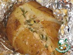 Картошка запеченная «Чесночно-сырная» - кулинарный рецепт