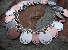 One Blessed Grandma Hug Sterling Silver and Copper by ladybughugz, $70.00