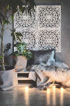 Pallet Furniture, Furniture Design, Palm Tree Flowers, Home Bedroom, Bedroom Ideas, Bedrooms, Handmade Furniture, Luxury Living, Wood Print