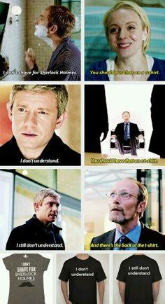 Sherlock Holmes quote t-shirt john Watson