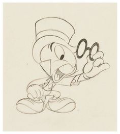 Bruce Smith Animator | Jiminy Cricket from Pinocchio (1940), by Ward Kimball.