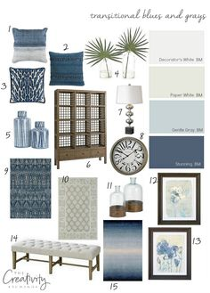 Layering transitional blues and grays in a home. Bassett Home Furniture.decor Layering transitional blues and grays in a home. Bassett Home Furniture. Living Room Decor, Home Decor, Living Room Interior, House Interior, Coastal Living Rooms, Living Room Grey, Modern Furniture Living Room, Interior Design, Living Decor