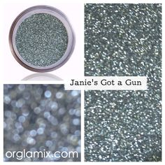 Janie's Got A Gun Glitter - Glam it up with color color plus texture for the eyes, lips and face that rocks. Shimmers on the street. A day just wouldn't be a great day without glitter--it's the ultimate eye-catching detail. Glitter Pigment, Body Glitter, Glitter Makeup, Glitter Eyeshadow, Cosmetic Grade Glitter, Natural Eyeshadow, Types Of Makeup, Wet Brush, Eyes Lips Face