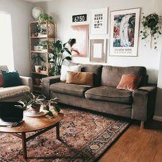 New stylish bohemian home decor and design ideas - Deco - # . - New stylish bohemian home decor and design ideas - Deco - # . Boho Living Room, Home And Living, Bohemian Living, Earth Tone Living Room Decor, Small Living, Bohemian House, Living Rooms, Living Room Inspiration, Home Decor Inspiration