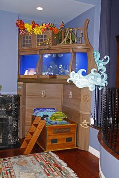 Pirate ship bed tank - We watched them build this on Tanked for a little boy, freakin awesome! JP