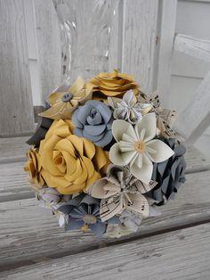 Brautstrauß aus Papierblumen
