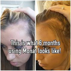 Monat before and after rejuveniqe oil non toxic hair care hair extensions nope monat