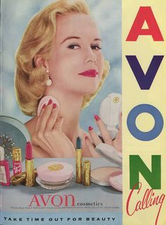 """We are loving the advice from this vintage 1957 Avon ad! """"Take time out for beauty"""" - done and done! Take a beauty break and shop the latest from Avon here. Shop online for Avon Make up, Cosmetics and LOTS more."""