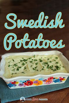 Nadire Atas All Things Nordic Swedish Potatoes. A creamy, fluffy and delicious side dish instead of your usual mashed potatoes. Flavoured with cream cheese, onion salt and more! Swedish Cuisine, Swedish Dishes, Swedish Recipes, Swedish Foods, Norwegian Recipes, Swedish Potato Recipe, Danish Recipes, Potato Side Dishes, Vegetable Side Dishes