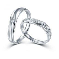 Обручальное кольцо с бриллиантом золотые американка