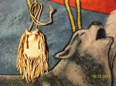 Fringed medicine bag from Elusive Wolf