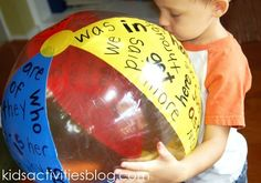 sight word ball from kids activities blog