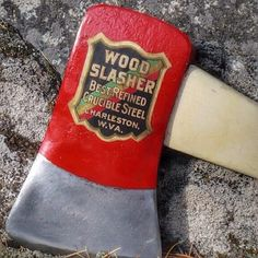 Wood Slasher discovered in the wilds of the Web. #typehunter #axe | Flickr - Photo Sharing!