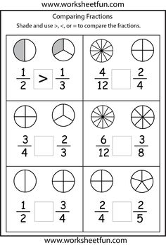 comparing fractions worksheets 3rd grade math school make pictures blank shapes for older. Black Bedroom Furniture Sets. Home Design Ideas