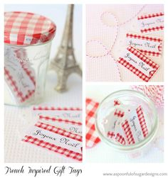 French Inspired Christmas: Gift Tags and Fabric Tape | A Spoonful of Sugar