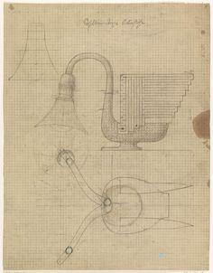 Mathieu Lauweriks | Ontwerp voor een zilveren lamp in de vorm van een vogel, Mathieu Lauweriks, 1874 - 1932 |